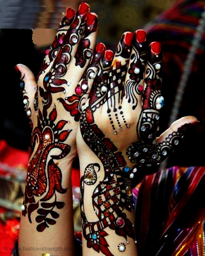 Colorful Henna Designs: 10 Breathtaking Back Hand Mehndi Designs 2017-2018