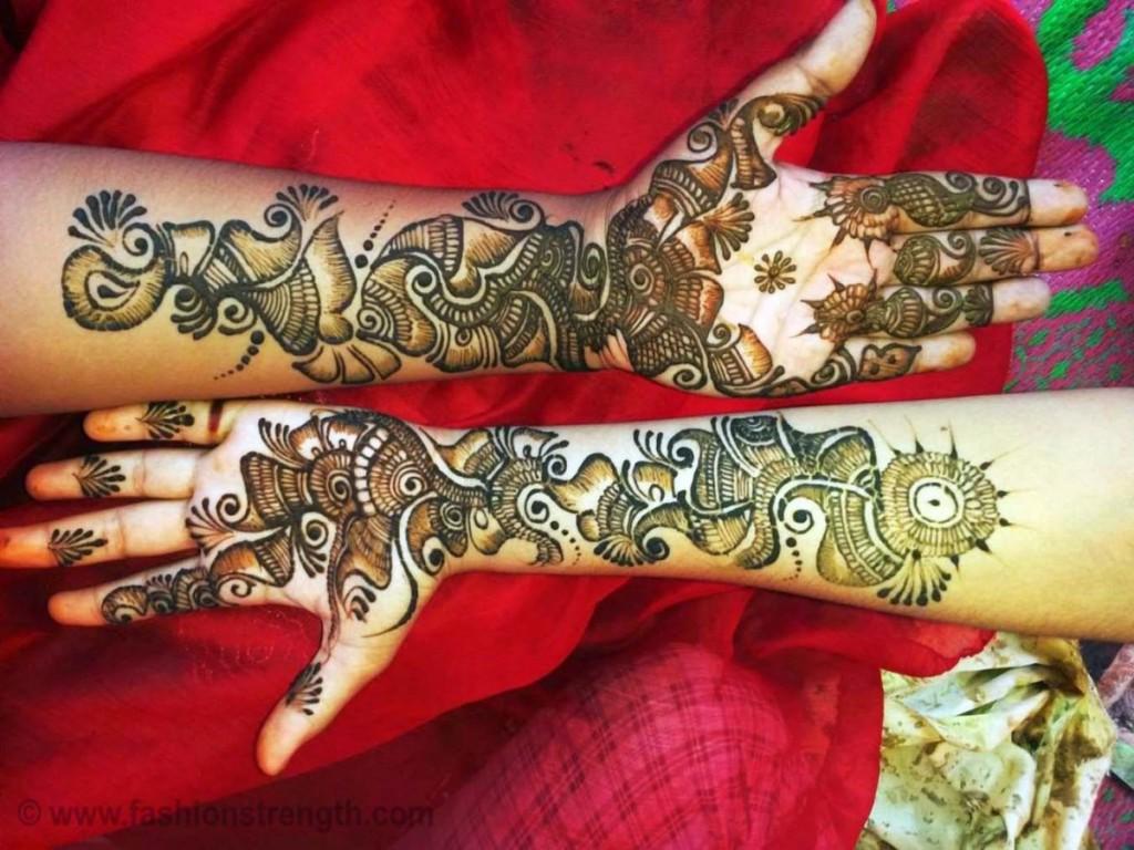 bridal black mehndi style