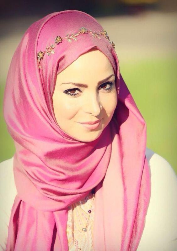 Fancy wrap style hijab