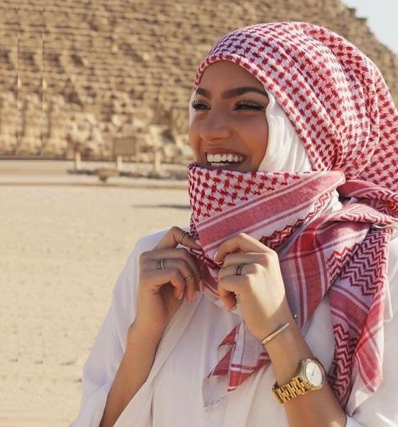 Arabic style hijab