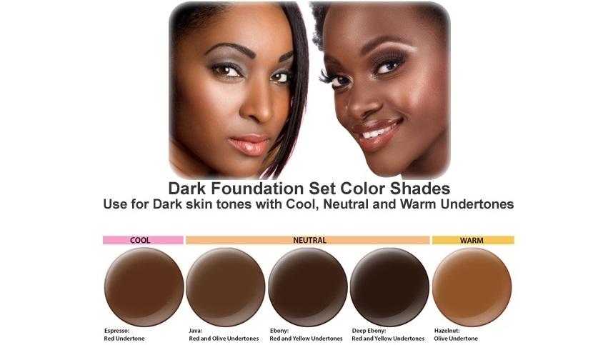 Diffe Shades Of Foundation For Dark Skin Tone